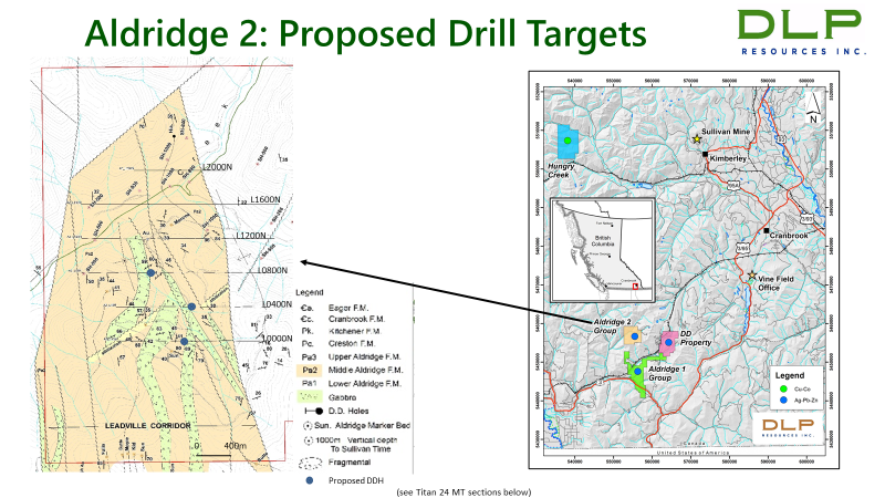 Aldridge 2: Proposed Drill Targets